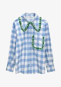 Uterqüe - Button-down blouse - blue denim - 5