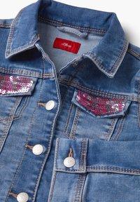 s.Oliver - MIT PAILLETTEN-DETAILS - Denim jacket - blue - 2