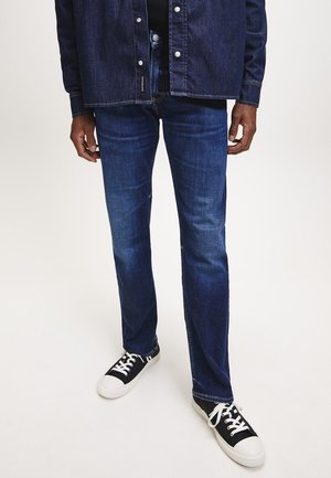 Straight leg jeans - mid blue brushed