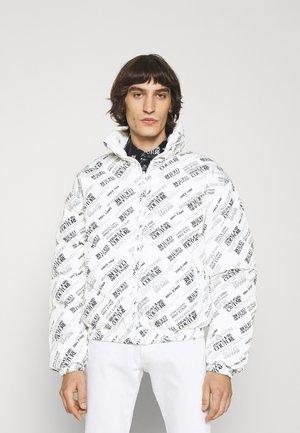 PRINT WARRANTY REPEAT - Down jacket - bianco ottico