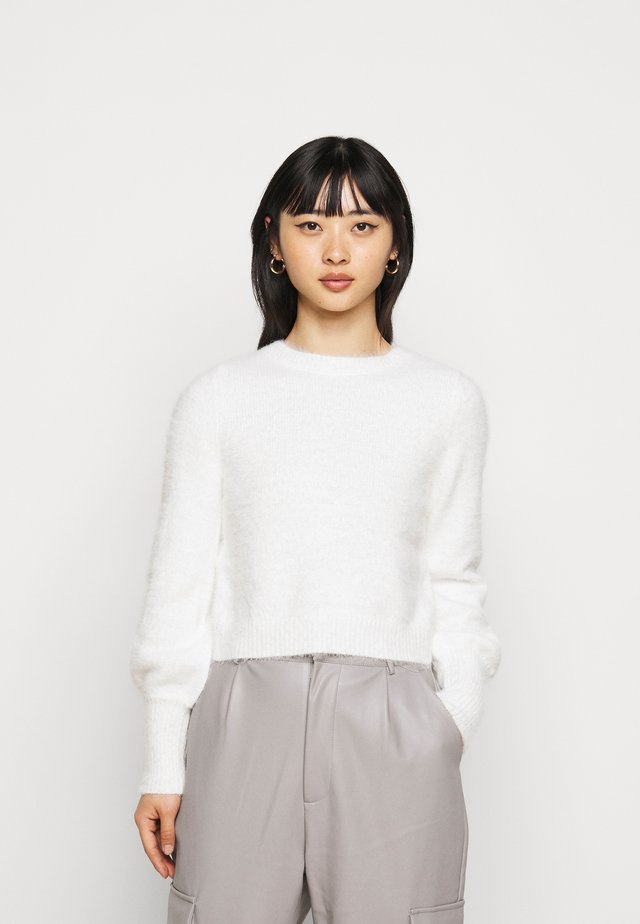 EYELASH BACK DETAIL JUMPER - Trui - ivory