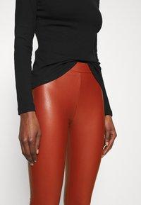 TOM TAILOR DENIM - Leggings - Trousers - rust orange - 4