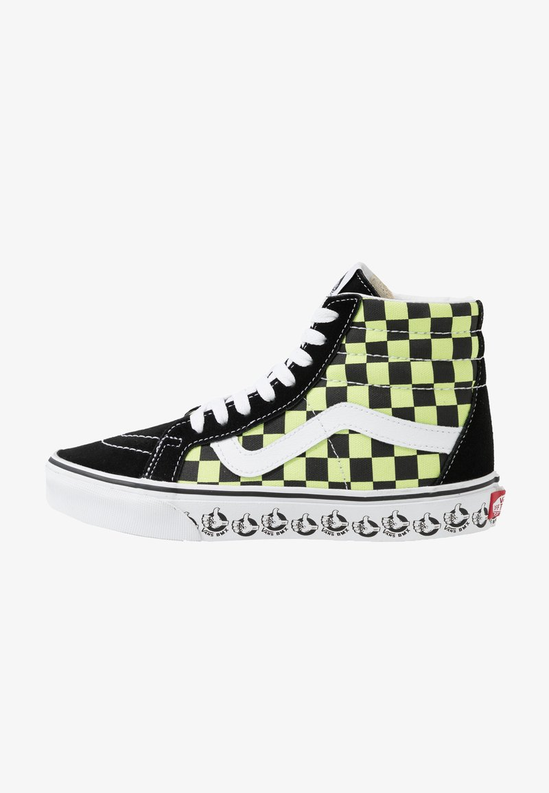 Vans - SK8 REISSUE - High-top trainers - black/sharp green