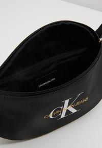 Calvin Klein Jeans - COATED ROUND STREET PACK - Bum bag - black - 4