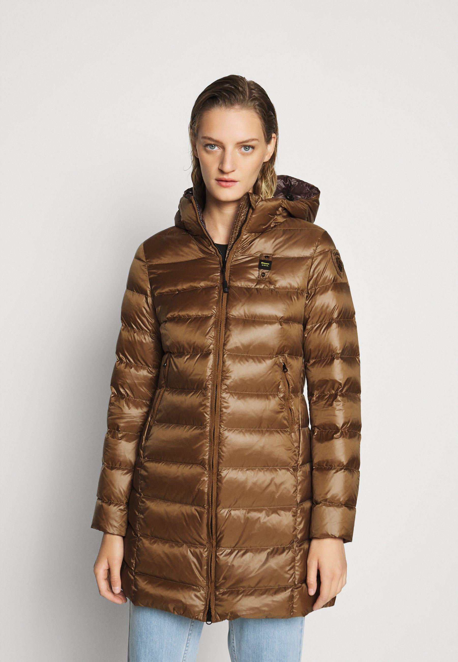 Best Authentic Women's Clothing Blauer IMPERMEABILE LUNGHI IMBOTTITO Down coat dark beige fgeNjqHgF