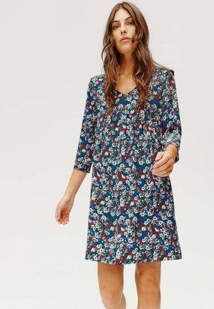 Robe d'été - imprimé bleu canard