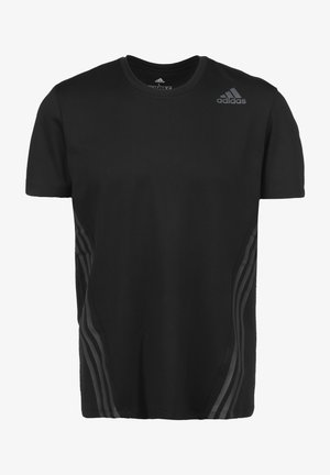 AERO 3-STRIPES COLD WEATHER TRAININGSSHIRT HERREN - Camiseta estampada - black