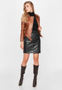 BTFCPH - EMMA - Leather jacket - cognac - 1