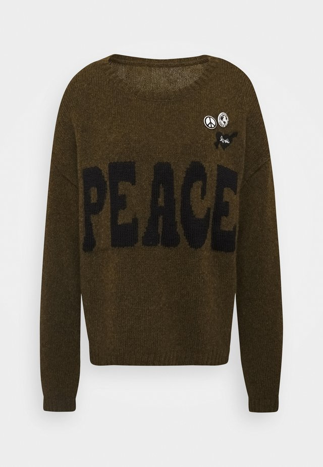 PEACE - Jumper - olive
