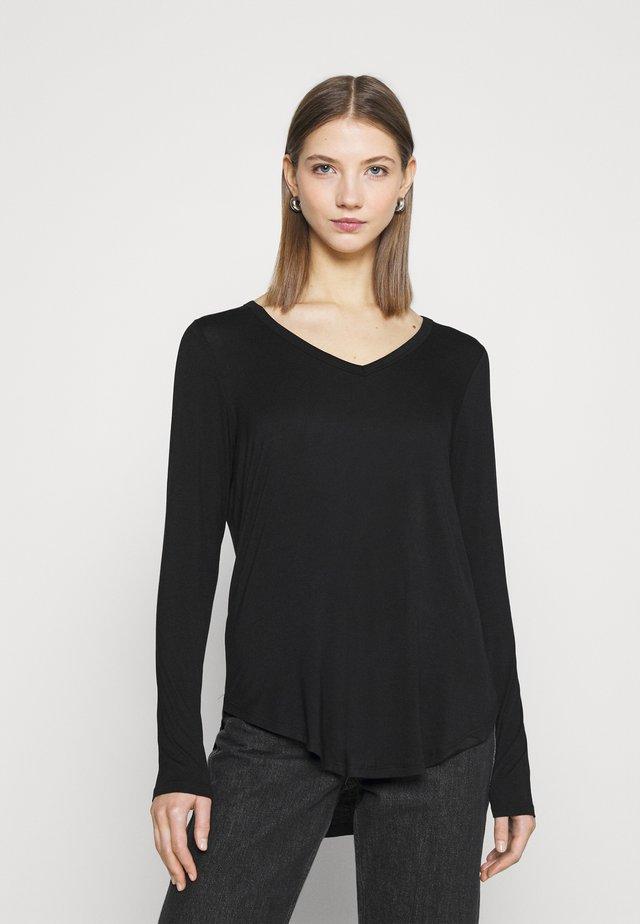 KARLY LONG SLEEVE  - Long sleeved top - black