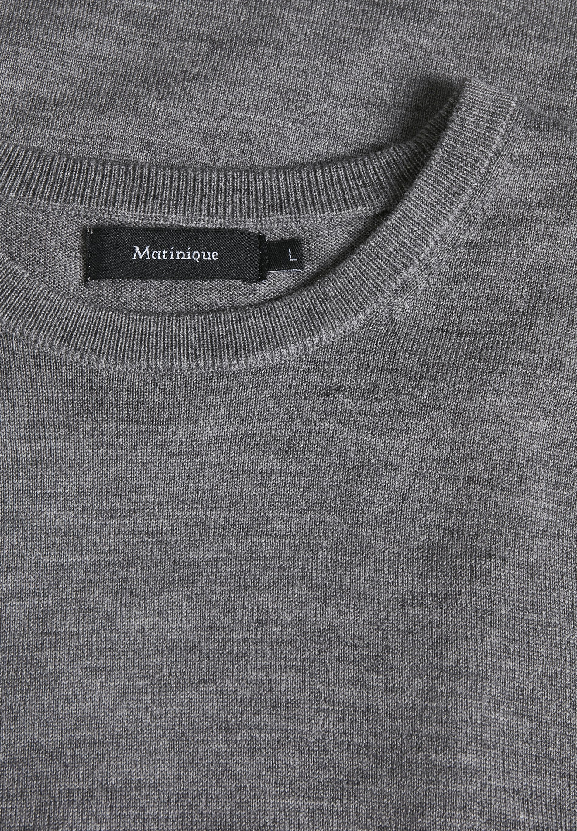 Matinique Margrate - Strikkegenser Grey Melange/grå