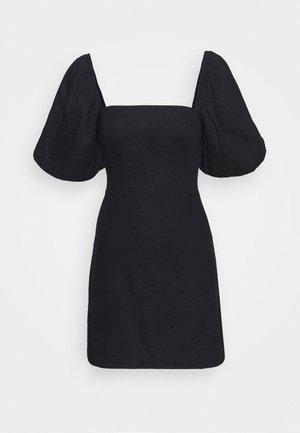 SMOCKED MINI - Day dress - black