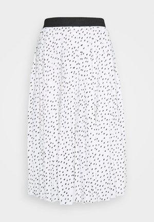 PLISSEEROCK - Pleated skirt - weiss/schwarz