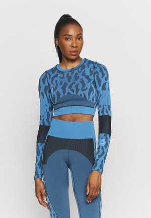 Long sleeved top - blue/black