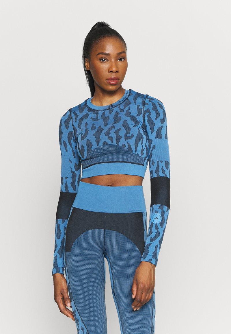 adidas by Stella McCartney - Top sdlouhým rukávem - blue/black