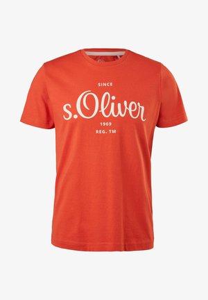 MIT LABEL - Print T-shirt - orange