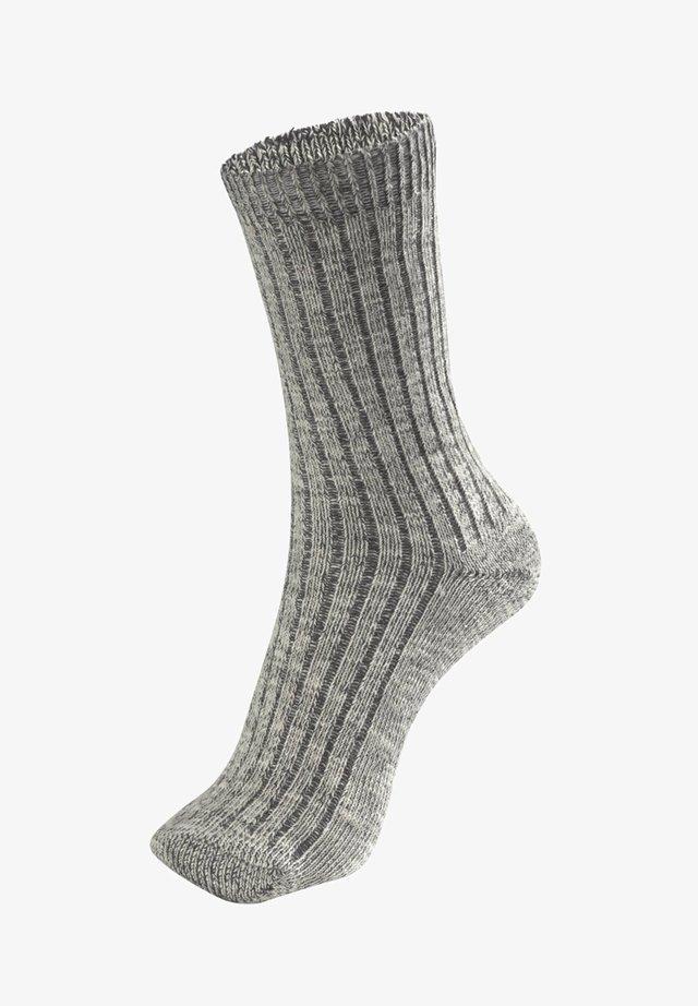 1 PAIR - Strumpor - dark grey