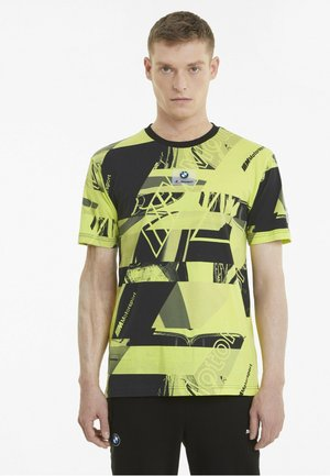 BMW M MOTORSPORT  - T-shirt con stampa - soft fluo yellow aop