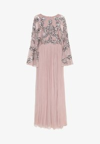 Maya Deluxe - CAPE SLEEVE MAXI DRESS WITH FLORAL EMBELLISHMENT - Robe de cocktail - frosted pink - 0