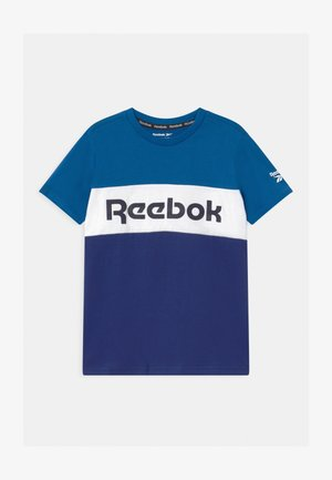 COLOR BLOCK - T-shirt imprimé - royal