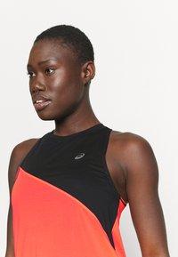 ASICS - TOKYO TANK - Sports shirt - performance black/flash coral - 3
