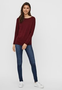 Vero Moda - VMNELLIE GLORY LONG  - Jumper - cabernet - 1