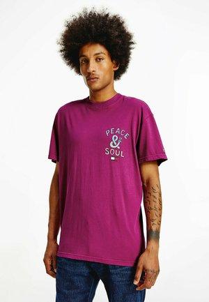 Print T-shirt - autumn plum