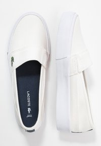 Lacoste - MARICE PLUS GRAND  - Slippers - white/navy - 3