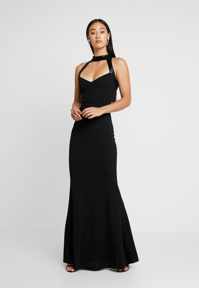 WAL G. - MAXI DRESS HELCTOR NECK OPEN BACK - Robe de cocktail - black