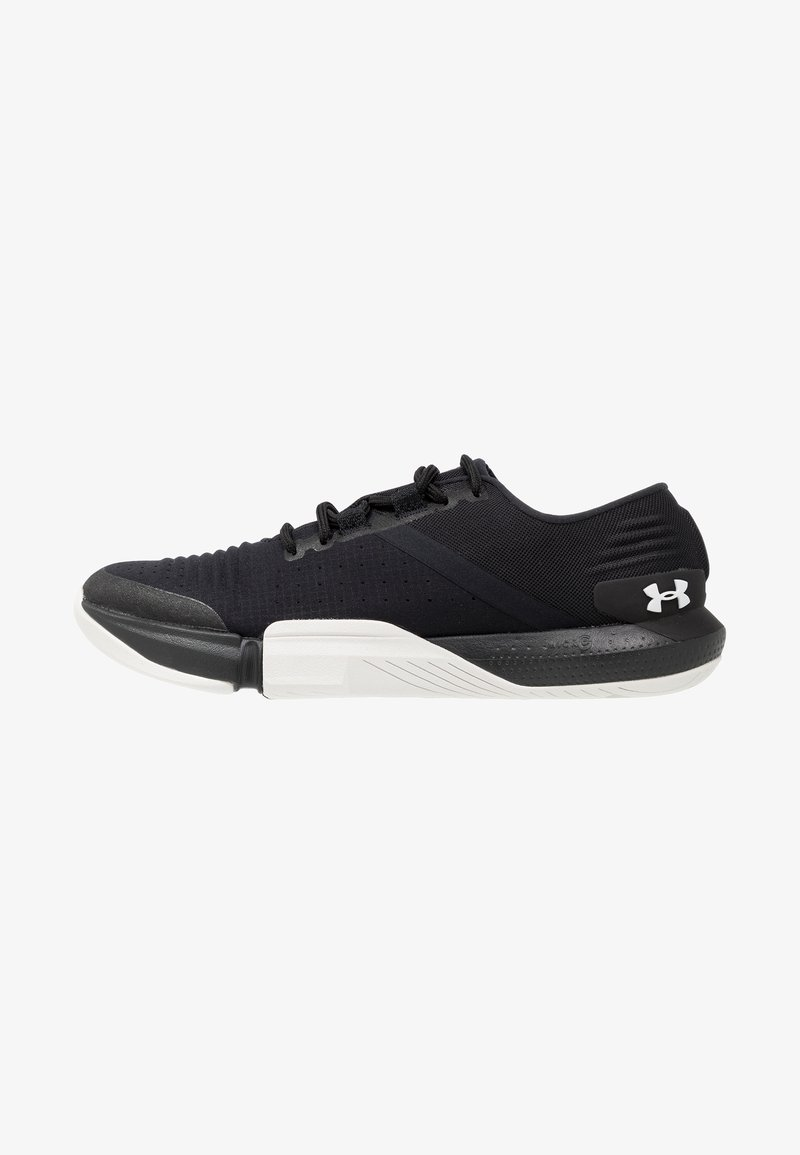 Under Armour - TRIBASE REIGN - Sports shoes - black/white