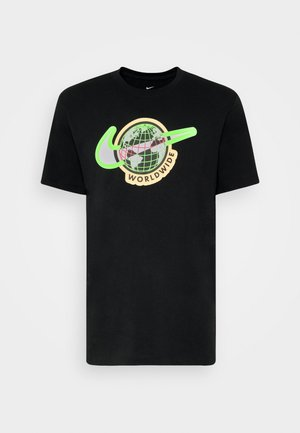 TEE WORLDWIDE - Print T-shirt - black