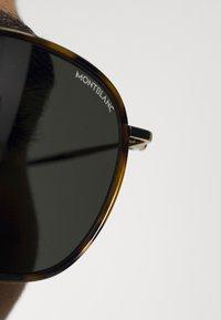 Mont Blanc - UNISEX - Sunglasses - havana/gold-coloured/grey - 1