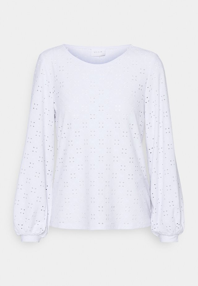 VITRESSY DETAIL ONECK - Long sleeved top - optical snow