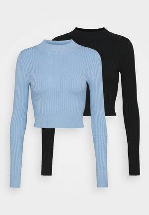 2 PACK - Jersey de punto - black/light blue