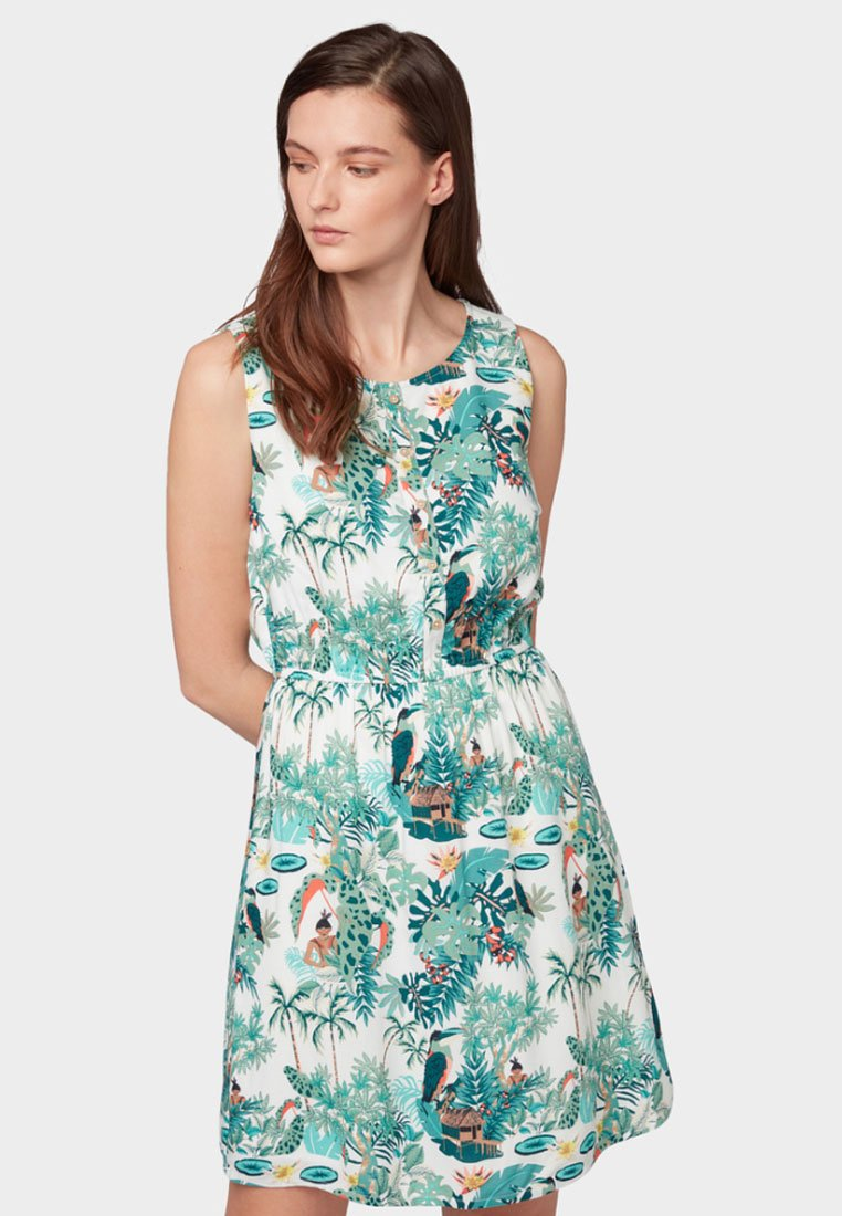 TOM TAILOR DENIM - Day dress - off white tropical