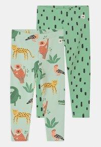 Lindex - MULTI ANIMAL 2 PACK UNISEX - Leggings - Trousers - light green - 0