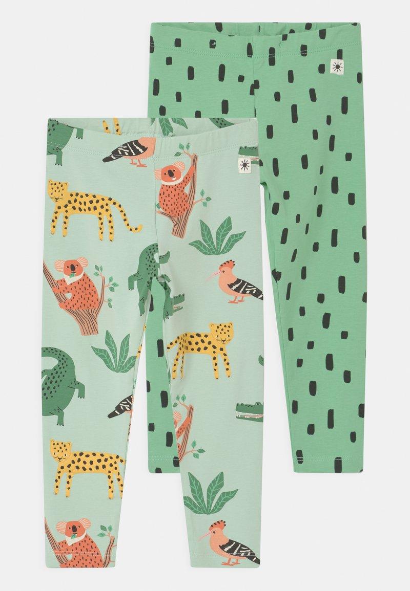 Lindex - MULTI ANIMAL 2 PACK UNISEX - Leggings - Trousers - light green