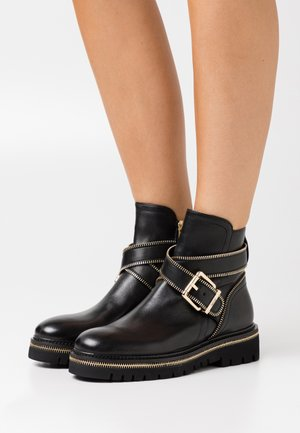 ZIP STREET - Cowboy/biker ankle boot - black