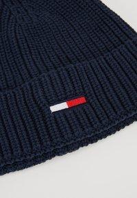 Tommy Jeans - BASIC FLAG BEANIE UNISEX - Bonnet - blue - 5