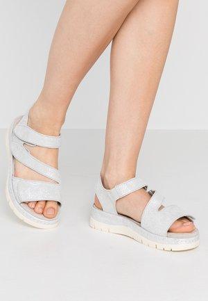 Platform sandals - grey/silver