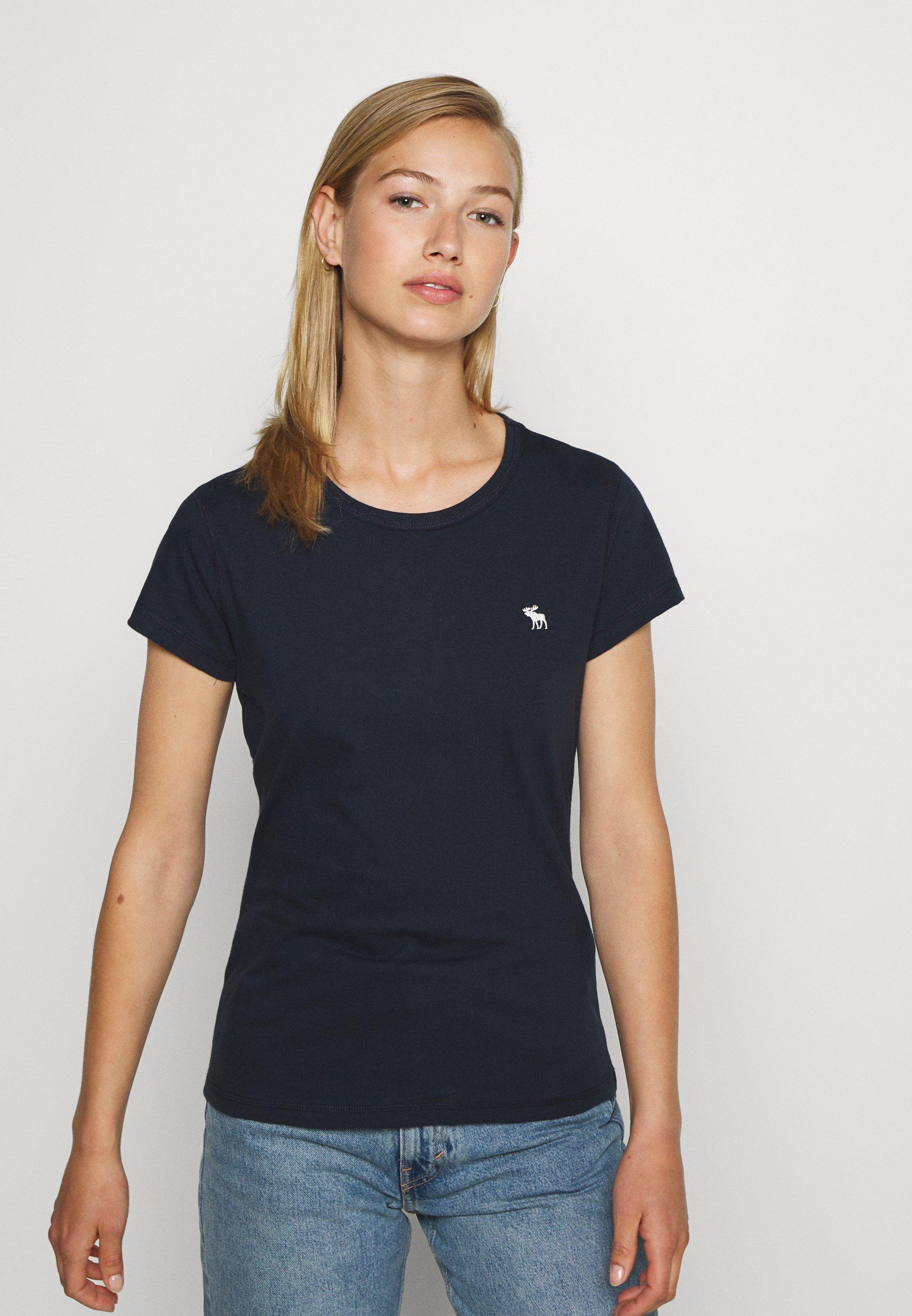 Abercrombie & Fitch CREW 3 PACK - T-shirt basic - black/white/navy - Abbigliamento da donna Sbrigati