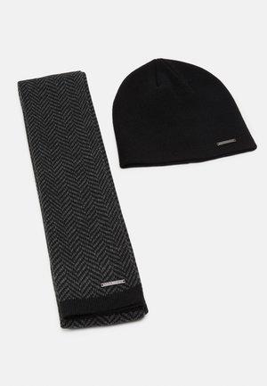 SET - Bufanda - grey/black