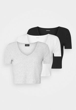 3 PACK - T-shirt basique - black