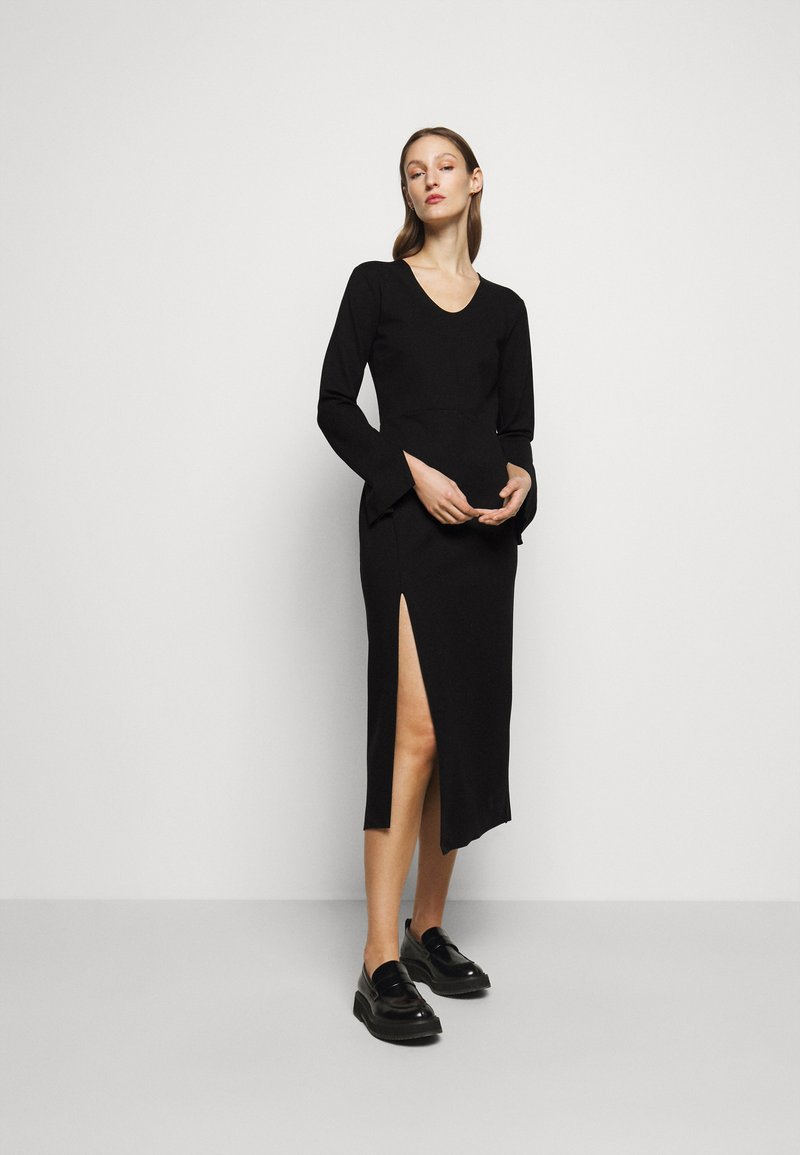 House of Dagmar - MILANA - Vestito di maglina - black