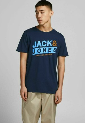 SLIM FIT  - Print T-shirt - navy blazer