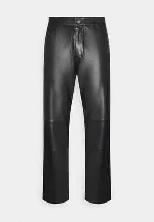WEJN - Leather trousers - black
