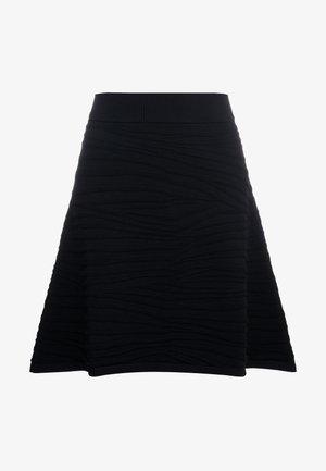 SOLAINA - Áčková sukně - black