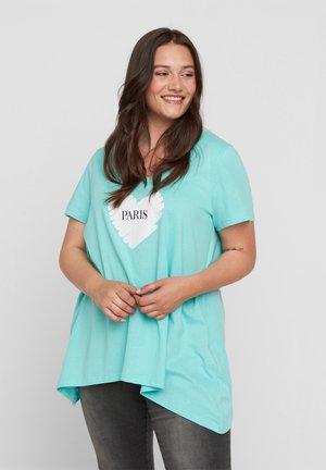 T-shirt z nadrukiem - aqua sky paris