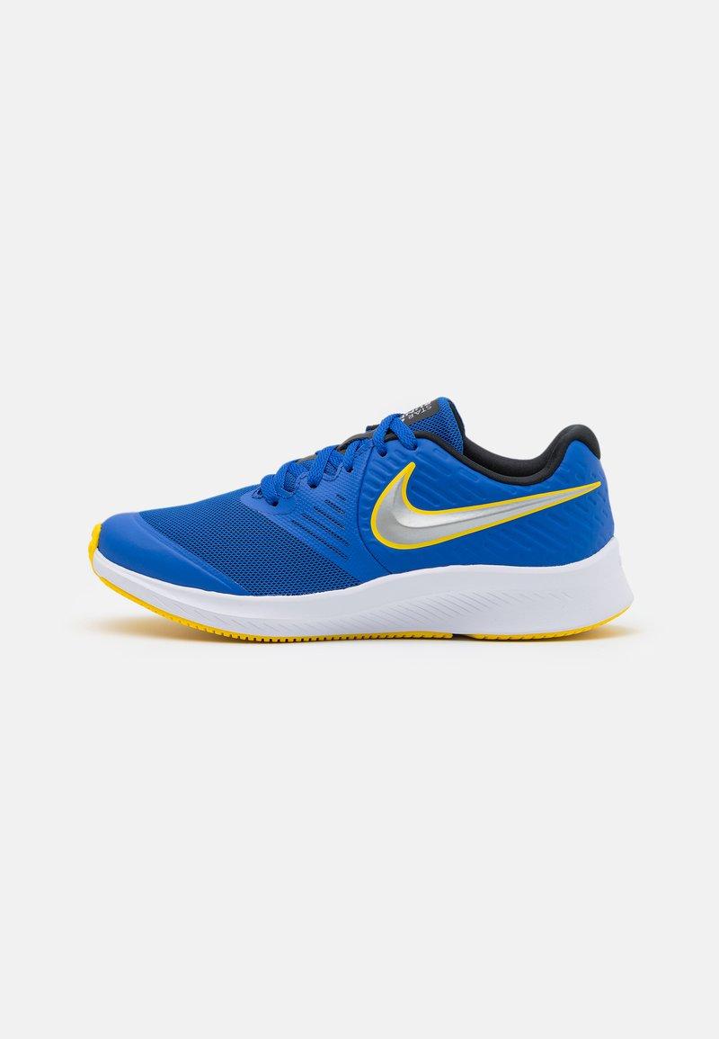 Nike Performance - STAR RUNNER 2 UNISEX - Neutral running shoes - game royal/metallic silver/black/speed yellow