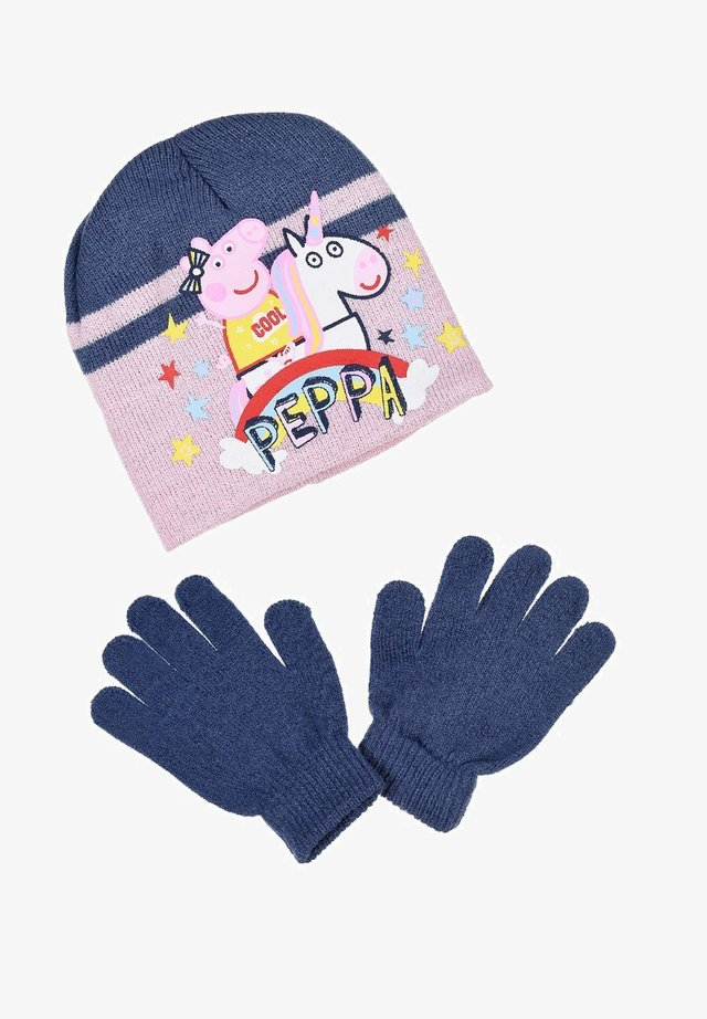 SET - Gloves - blau